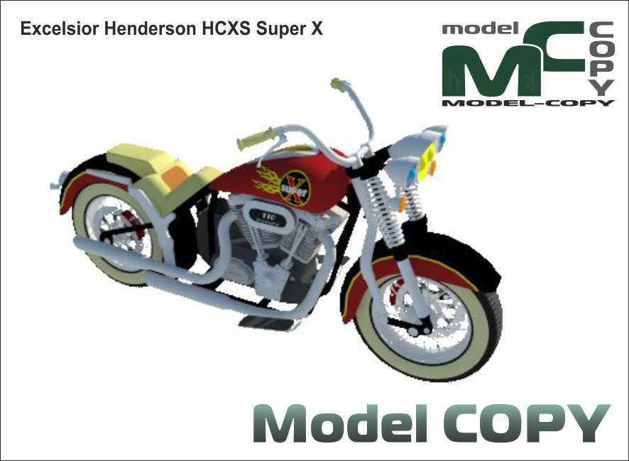 Excelsior Henderson HCXS Super X - 3D Model