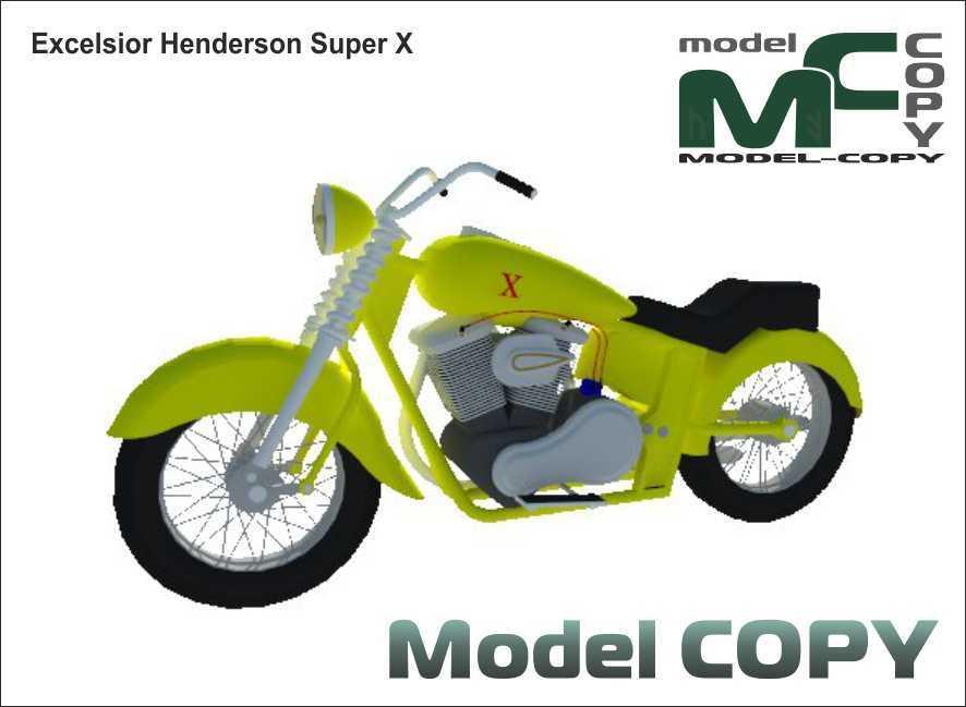 Excelsior Henderson Super X - 3D Model