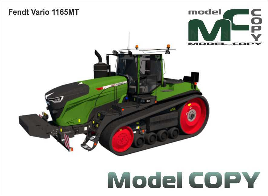Fendt Vario 1165MT - 3D Model