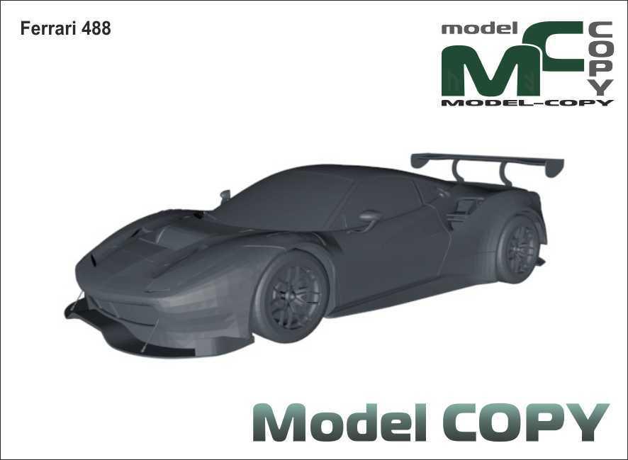Ferrari 488 - 3D Model
