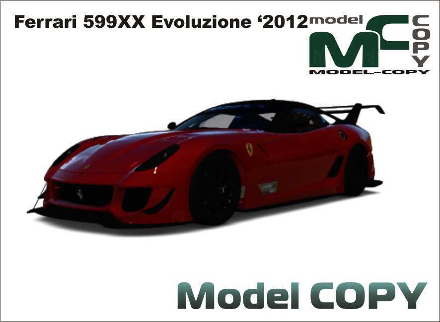 Ferrari 599XX Evoluzione '2012 - 3D Model