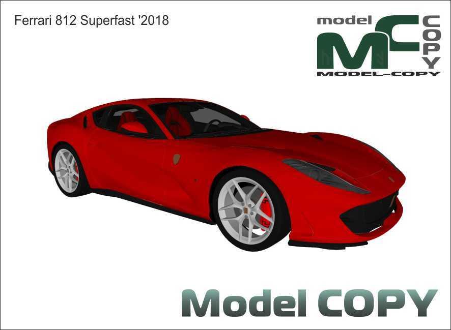 Ferrari 812 Superfast '2018 - Model 3D
