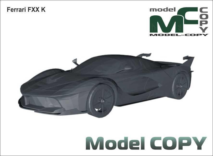 Ferrari FXX K - 3D Model