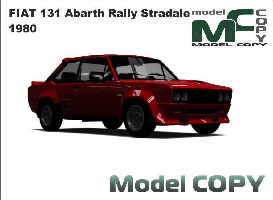FIAT 131 Abarth Rally Stradale 1980 - 3D Model