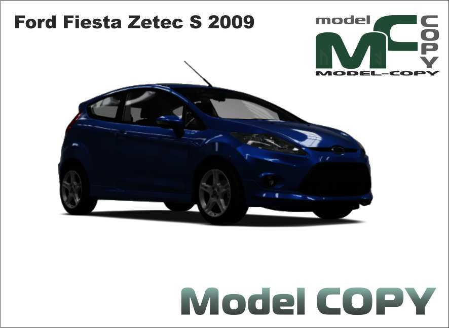 Ford Fiesta Zetec S 2009 - 3D Model