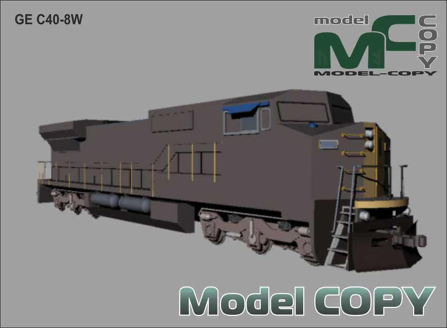 GE C40-8W - 3Dモデル