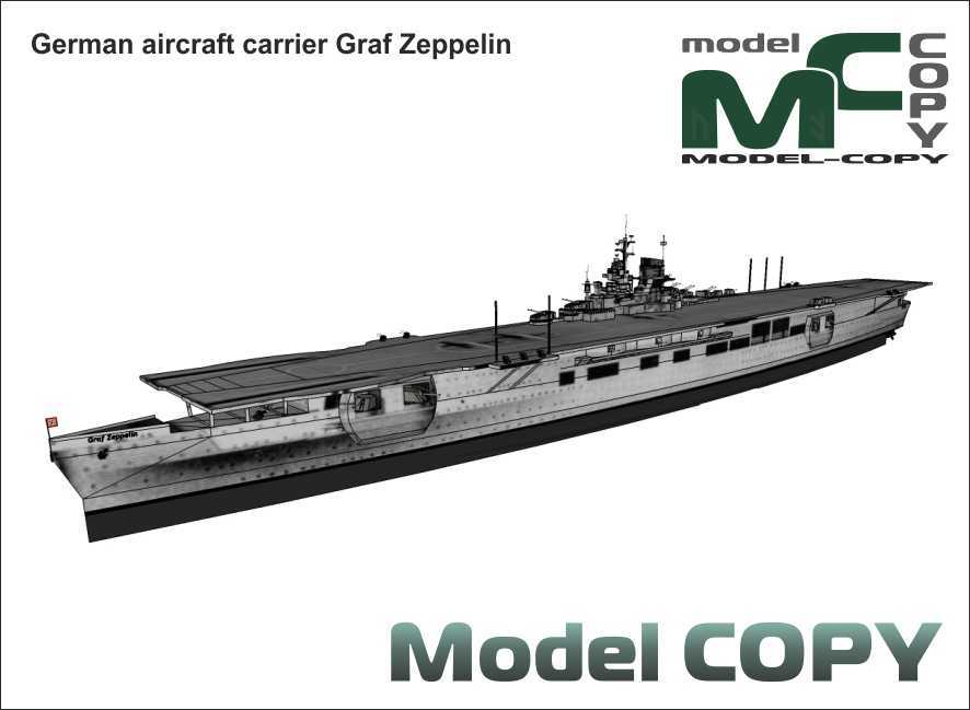 German aircraft carrier Graf Zeppelin - 3D Model