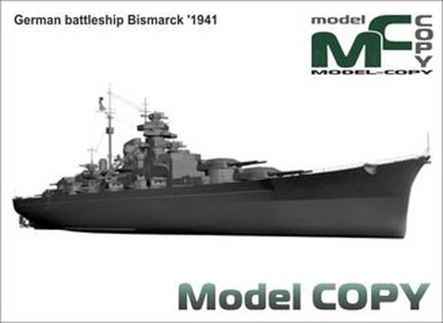 German battleship Bismarck '1941 - 3D Model