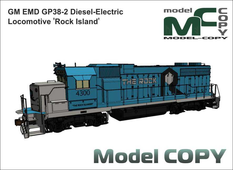 GM EMD GP38-2 Diesel-Electric Locomotive 'Rock Island' - 3D Model