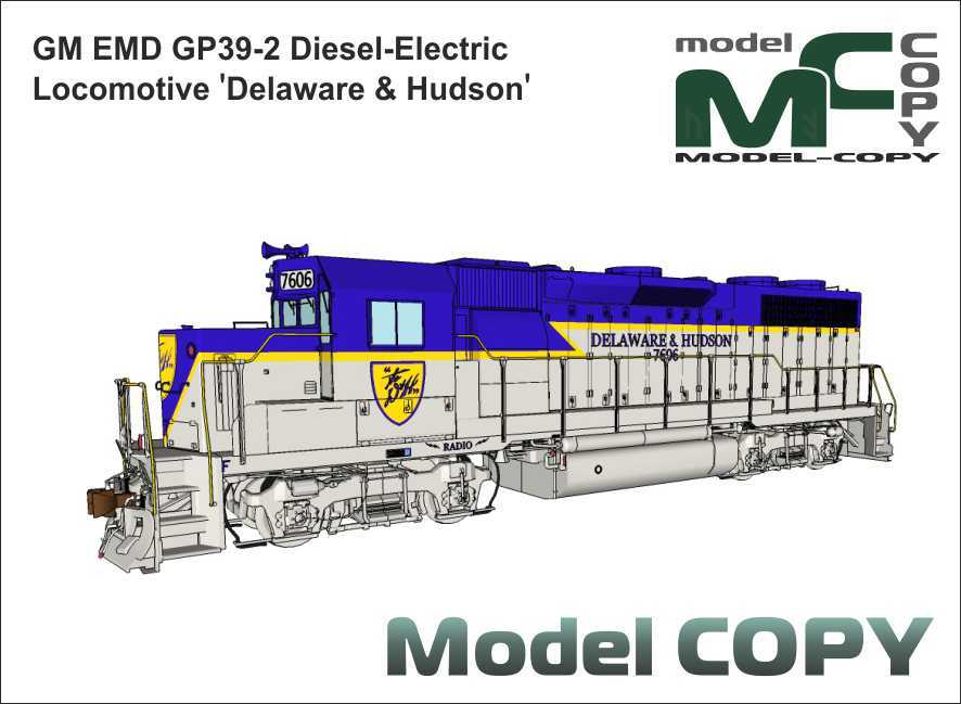 GM EMD GP39-2 Diesel-Electric Locomotive 'Delaware & Hudson' - 3D Model