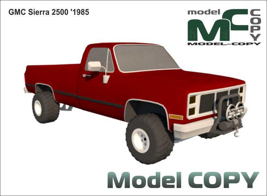 GMC Sierra 2500 '1985 - 3D Model