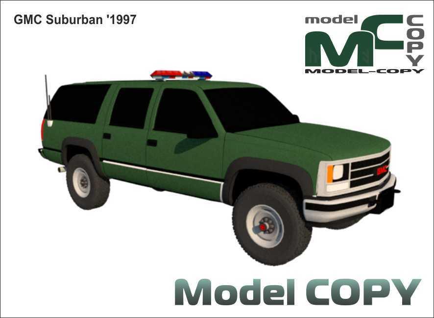 GMC Suburban '1997 - 3D Model