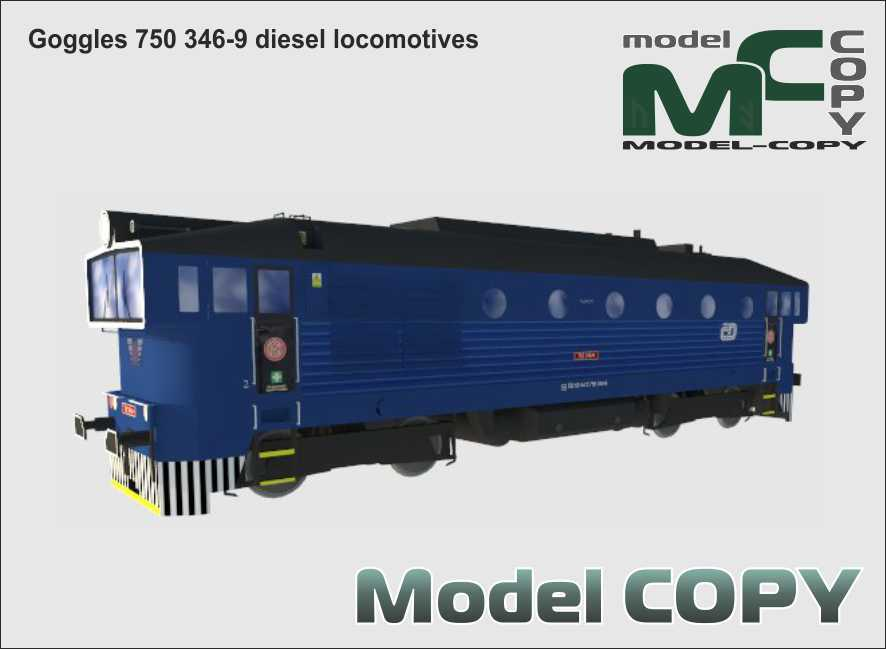 Goggles 750 346-9 diesel locomotive - 3D Model
