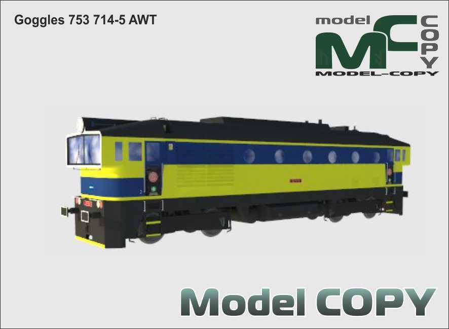 Goggles 753 714-5 AWT - 3D Model