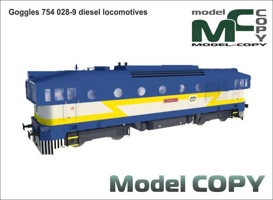 Goggles 754 028-9 diesel locomotives - 3D Model