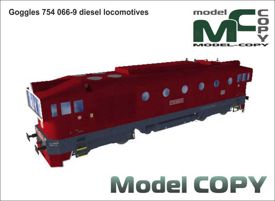 Goggles 754 066-9 diesel locomotives - 3D Model