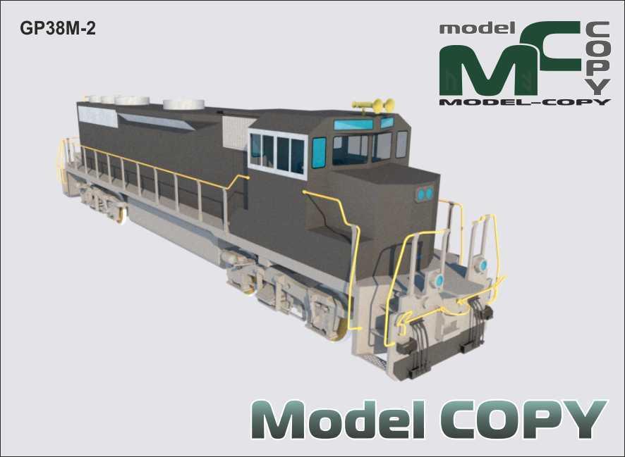 GP38M-2 - 3D Model
