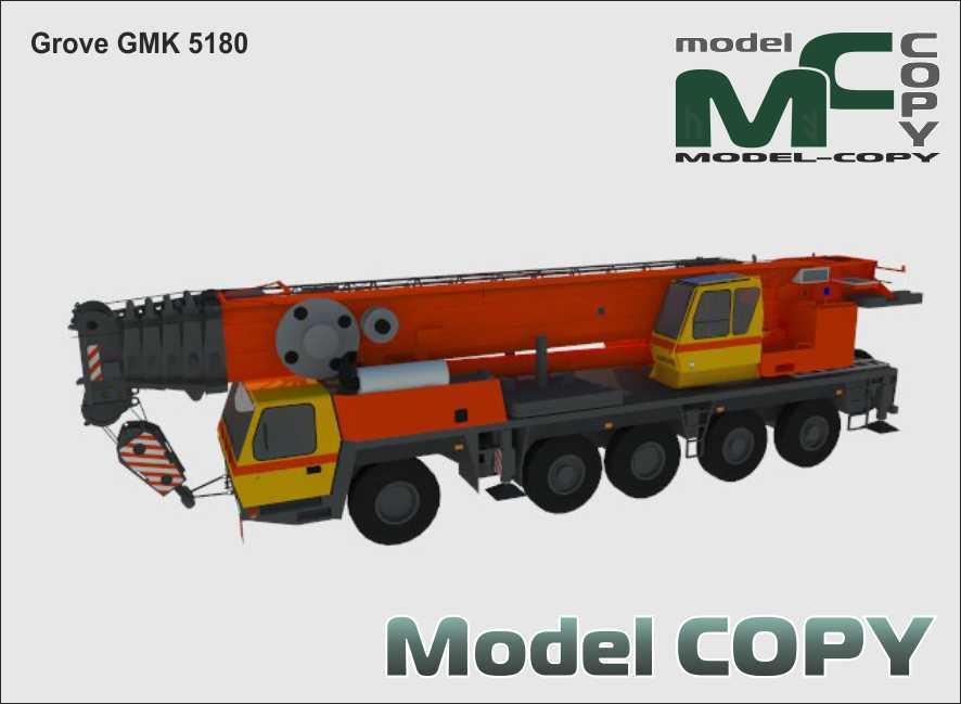 Grove GMK 5180 - 3D Model