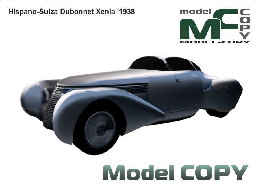 Hispano Suiza Dubonnet Xenia '1938 - 3D Model