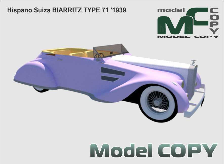 Hispano Suiza BIARRITZ TYPE 71 '1939 - 3D Model