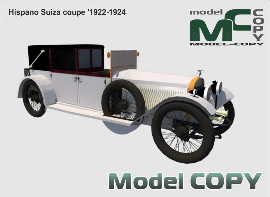 Hispano Suiza coupe '1922-1924 - 3D Model