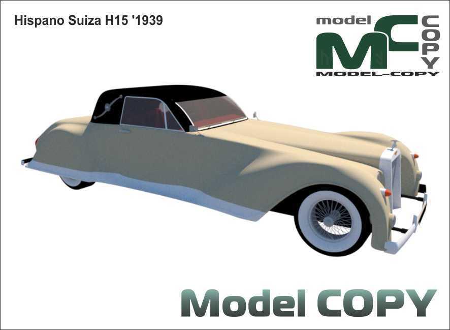 Hispano Suiza H15 '1939 - 3D Model