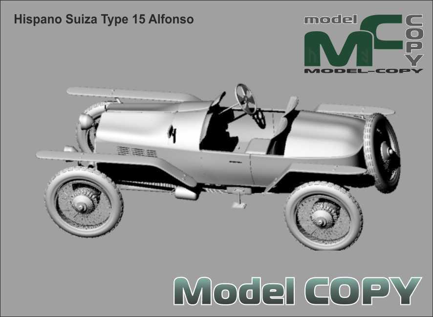 Hispano Suiza Type 15 Alfonso - 3D Model