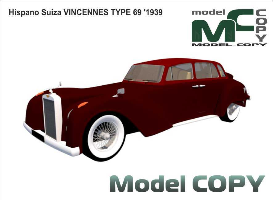 Hispano Suiza VINCENNES TYPE 69 '1939 - 3D Model