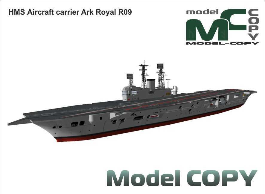 HMS Aircraft carrier Ark Royal R09 - 3D Model
