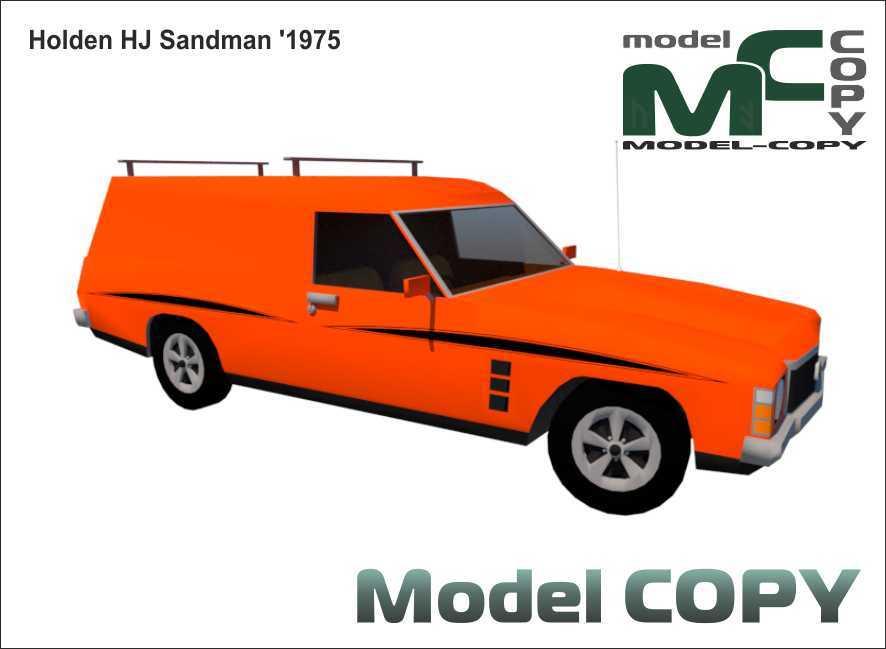 Holden HJ Sandman '1975 - 3D Model