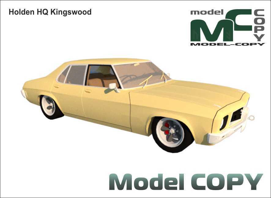 Holden HQ Kingswood - 3D Model