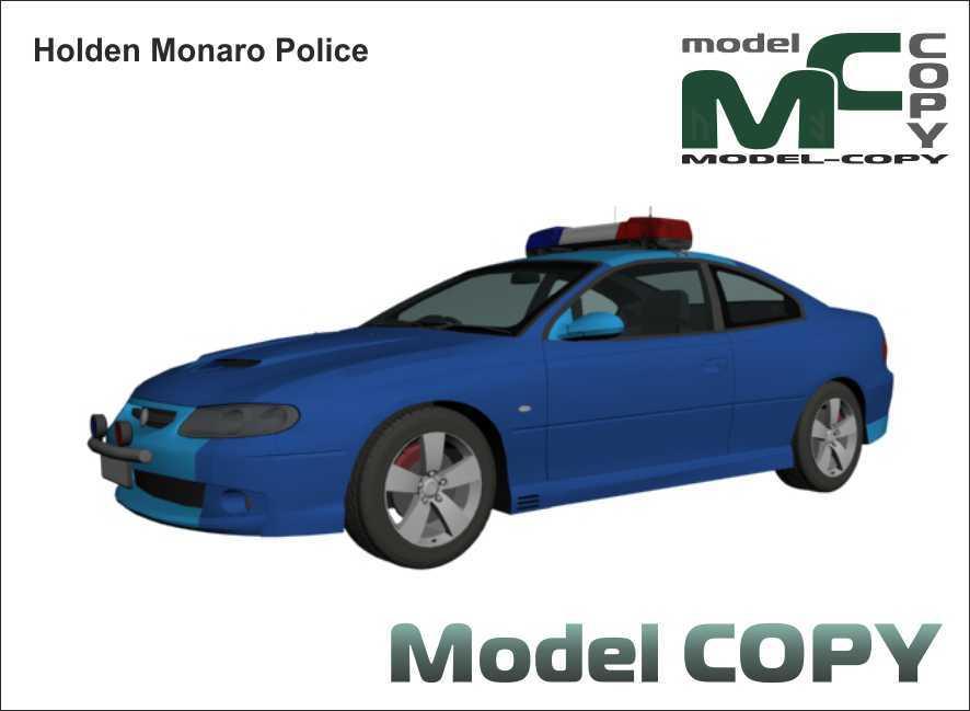 Holden Monaro Police - 3D Model