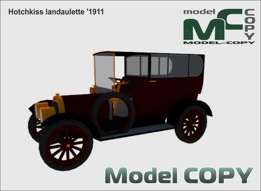 Hotchkiss landaulette '1911 - 3D Model