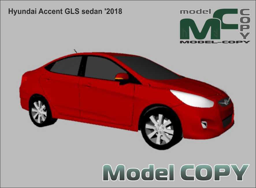 Hyundai Accent GLS sedan '2018 - 3D Model
