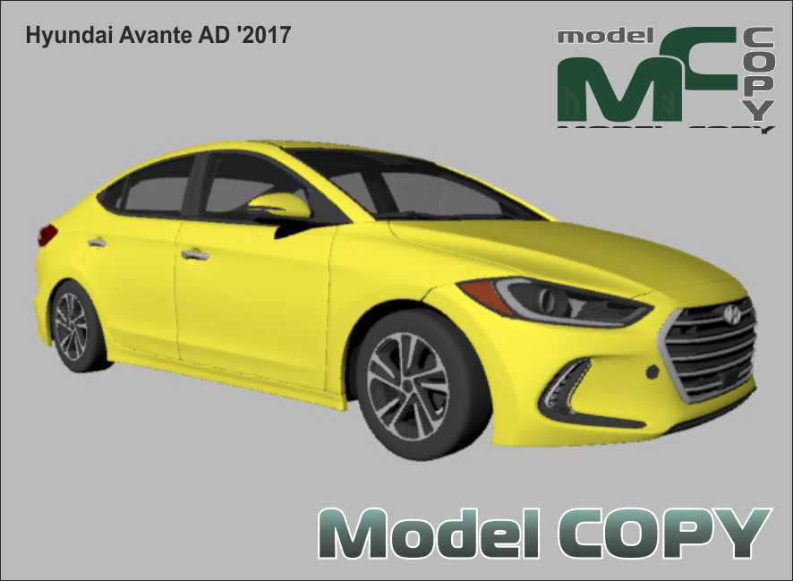 Hyundai Avante AD '2017 - 3Dモデル