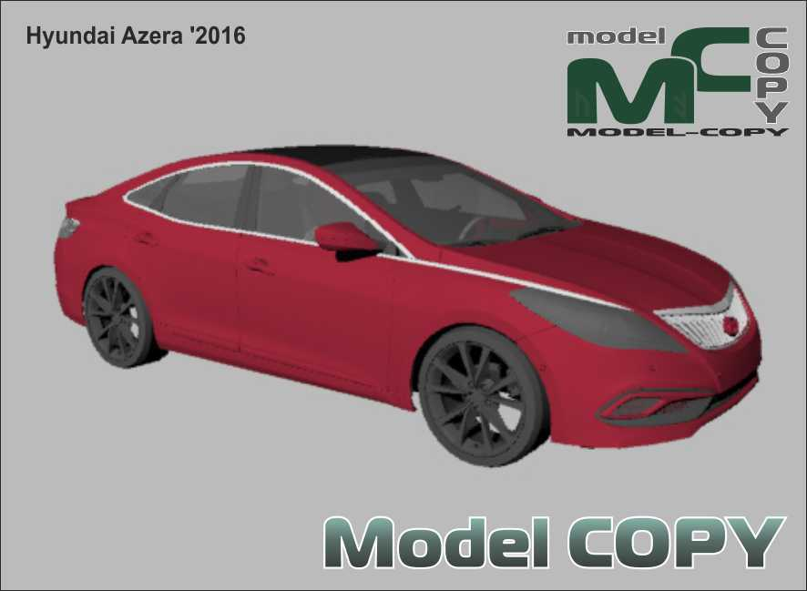 Hyundai Azera '2016 - 3Dモデル