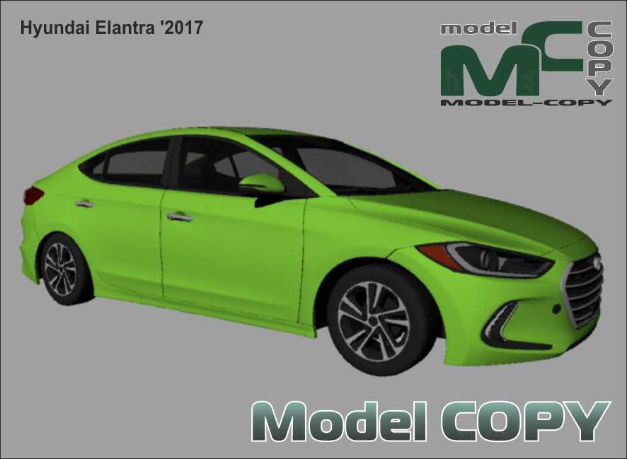 Hyundai Elantra '2017 - 3Dモデル