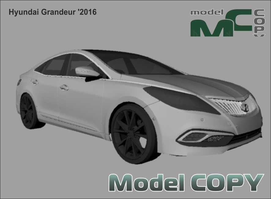 Hyundai Grandeur '2016 - 3Dモデル