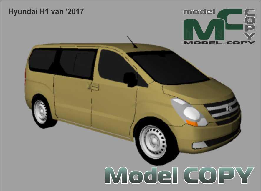 Hyundai H1 van '2017 - 3D Model