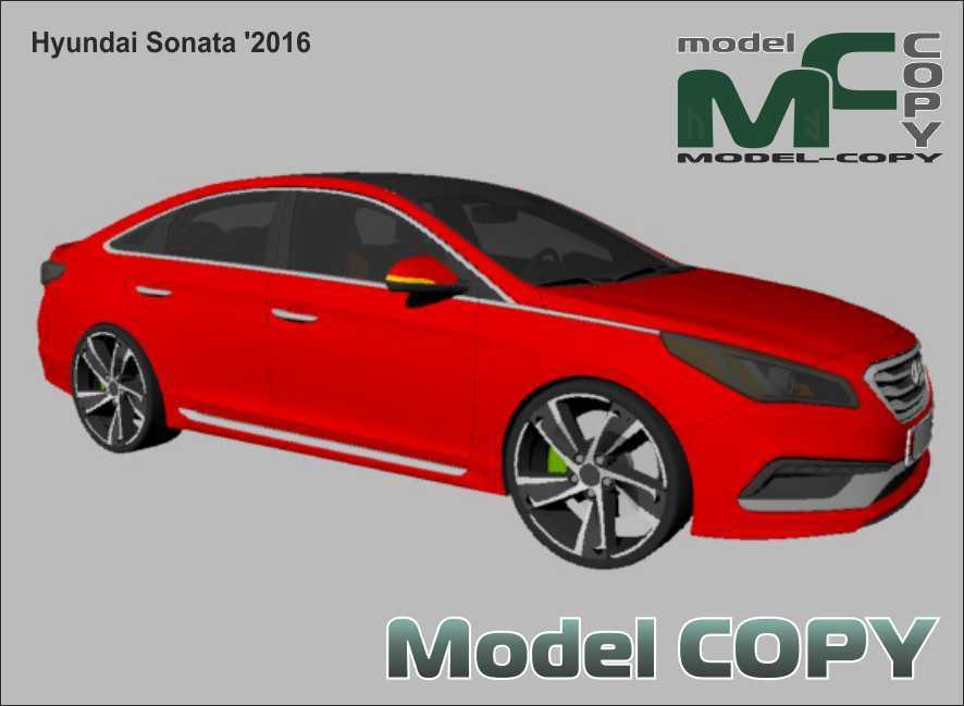 Hyundai Sonata '2016 - 3Dモデル