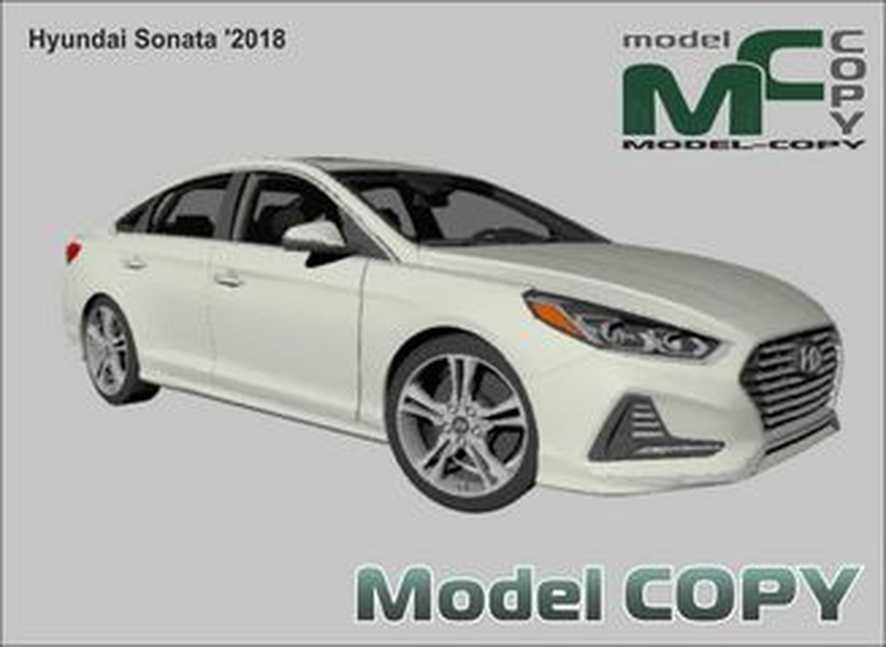 Hyundai Sonata '2018 - 3D Model