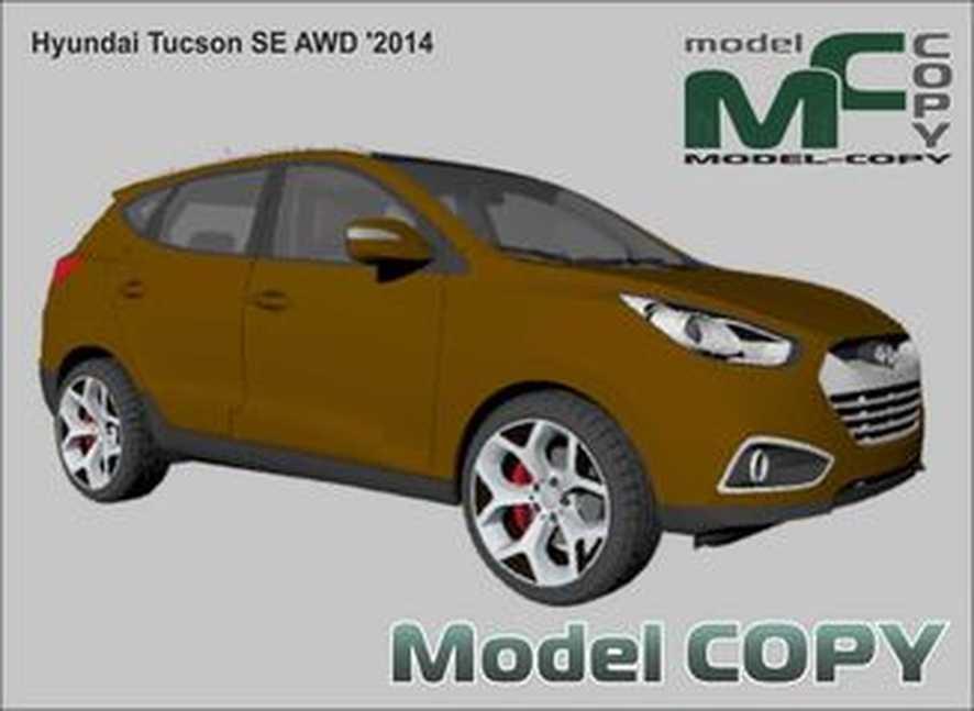 Hyundai Tucson SE AWD '2014 - 3Dモデル