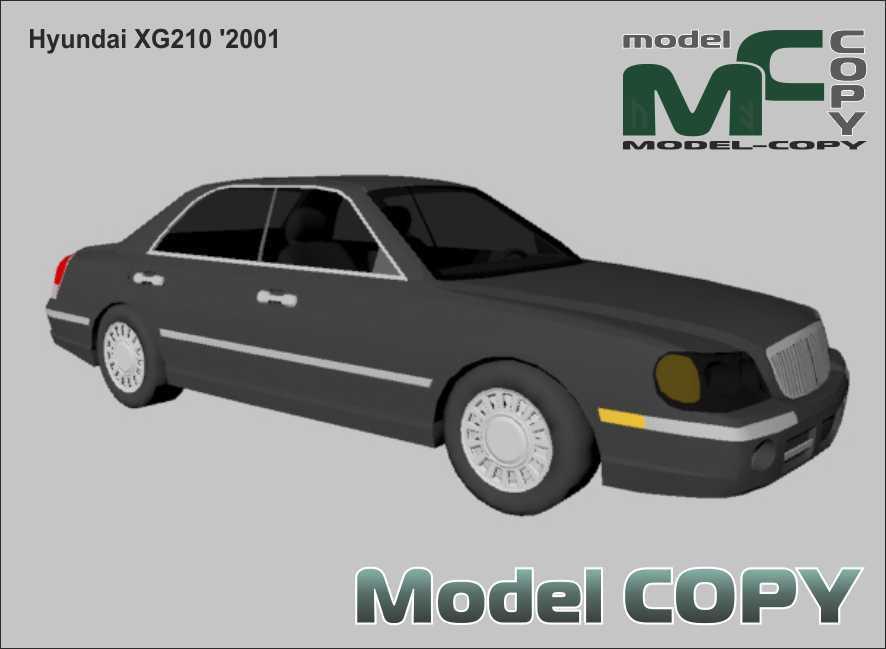 Hyundai XG210 '2001 - 3D-модель
