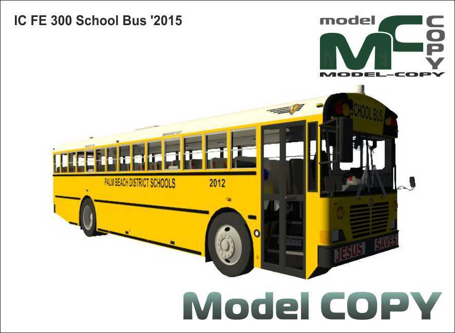 IC FE 300 School Bus '2015 - 3D Model