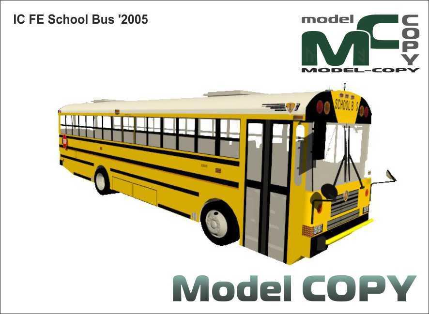 IC FE School Bus '2005 - 3D Model