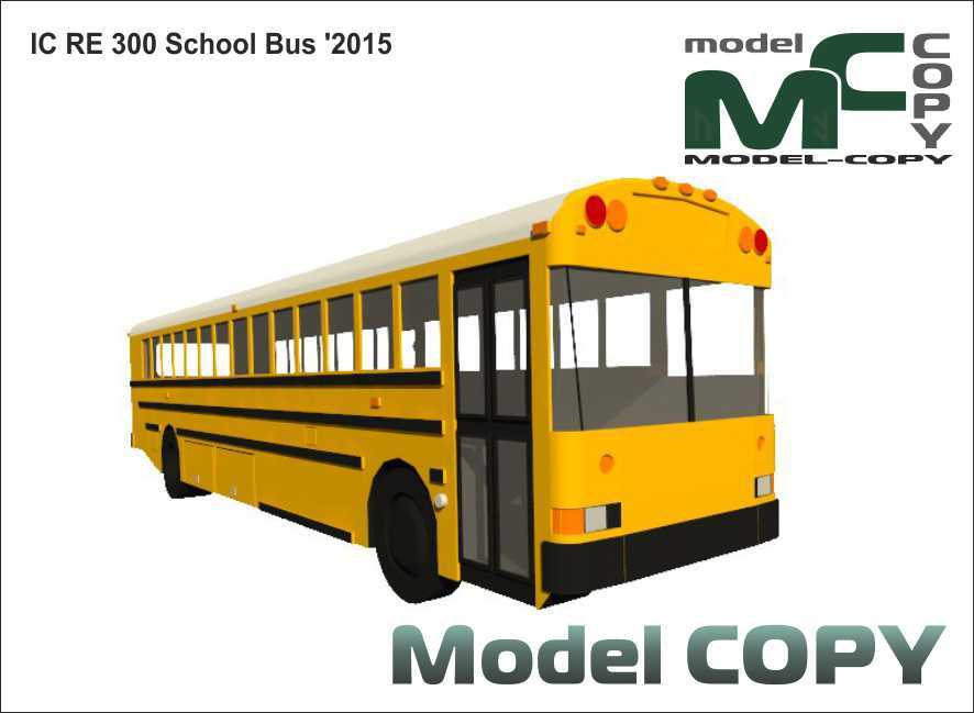 IC RE 300 School Bus '2015 - 3D Model