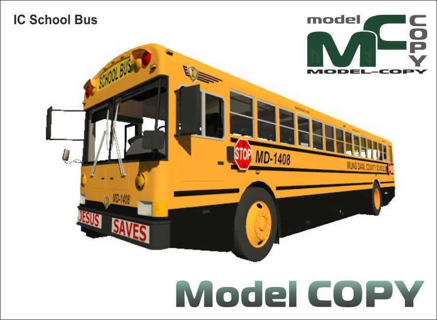 IC School Bus - 3D Model