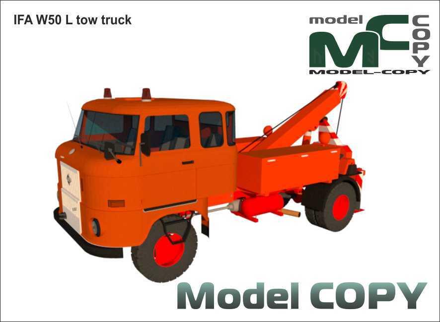 IFA W50 L tow truck - 3D Model