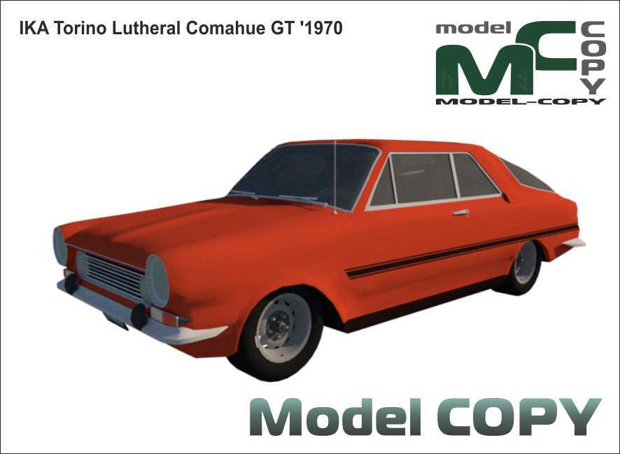 IKA Torino Lutheral Comahue GT '1970 - 3D Model