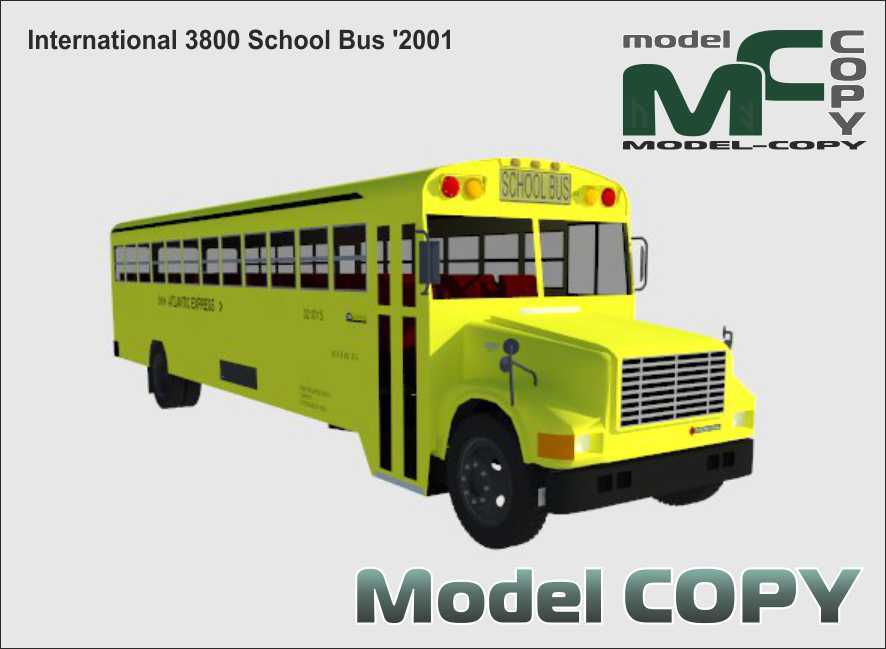 International 3800 School Bus '2001 - 3D Model